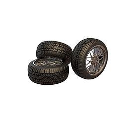 加厚轮胎模型3d模型