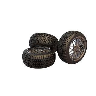 加厚轮胎3d模型