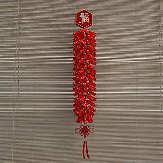 春节鞭炮装饰品3d模型