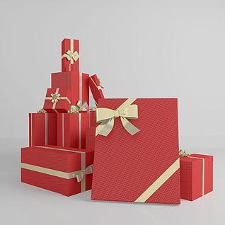 3d春节礼盒模型