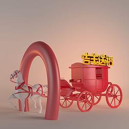 春节户外装饰3D模型