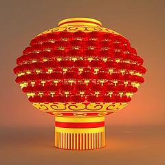 春节户外灯笼模型3d模型