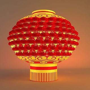 春节户外灯笼3d模型