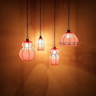 春节吊灯3d模型