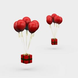 节日礼物气球3d模型