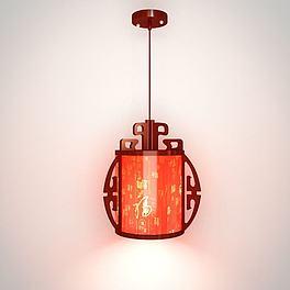 复古水晶吊灯3D模型