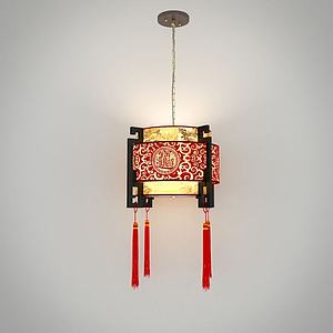 中國風吊燈模型
