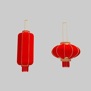中式红灯笼3d模型图片
