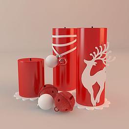 节日鞭炮道具3D模型