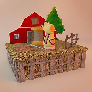 卡通场景素材3d模型