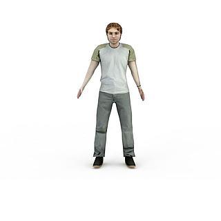 休闲男人3d模型