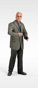3d成功商人模型