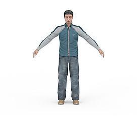男士休闲运动装3d模型