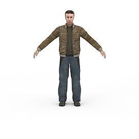 现代男子3d模型