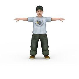 可爱小男孩3d模型