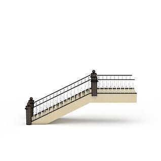 现代楼梯3d模型