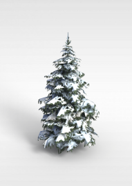 3d落雪松树模型