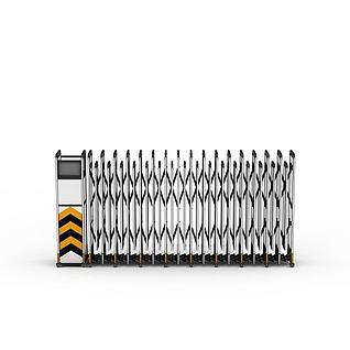 电动收缩门3d模型