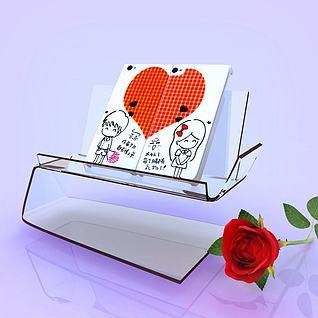 情侣卡通手机壳3d模型