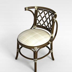 3d休闲藤椅模型
