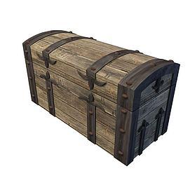 木质百宝箱模型