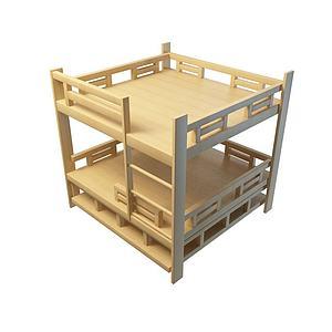 双层公寓床模型3d模型
