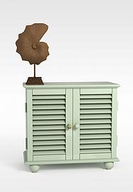 白色柜子3d模型
