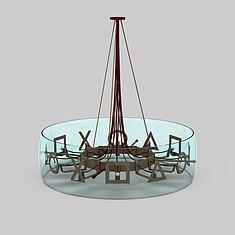 酒店吸顶灯3D模型3d模型