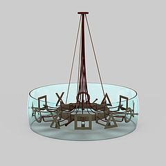 酒店吸顶灯模型3d模型