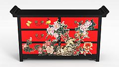 中式鞋柜模型3d模型