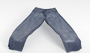 3d直筒<font class='myIsRed'>牛仔褲</font>模型