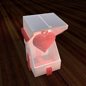 3d3D打印礼物<font class='myIsRed'>盒子</font>模型