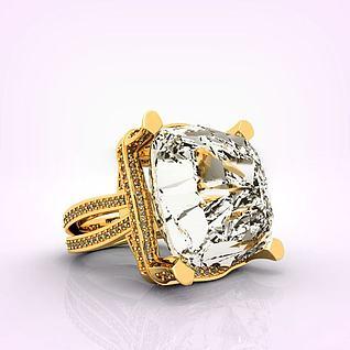 情侣钻石钻戒3d模型