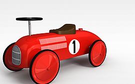 红色卡丁车3d模型