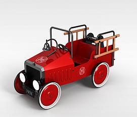 儿童玩具老爷车3d模型