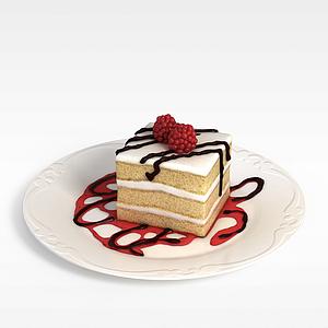 3d奶油<font class='myIsRed'>蛋糕</font>模型