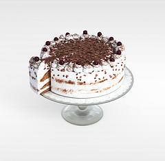 巧克力蛋糕模型3d模型