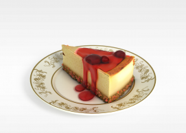 草莓<font class='myIsRed'>蛋糕</font>3d模型