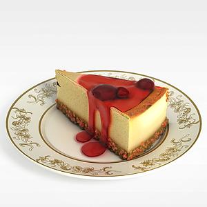 3d草莓<font class='myIsRed'>蛋糕</font>模型