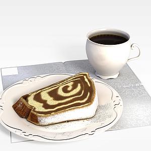 3d咖啡<font class='myIsRed'>蛋糕</font>模型
