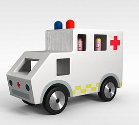 玩具救护车3d模型