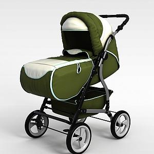 可折疊嬰兒車模型