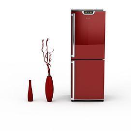 红色电冰箱模型