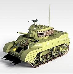 军事坦克模型3d模型