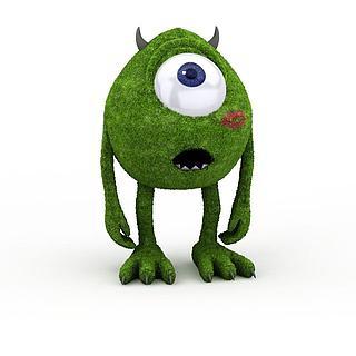 绿精灵玩具3d模型