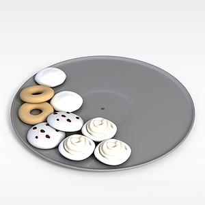 3d奶油饼干模型