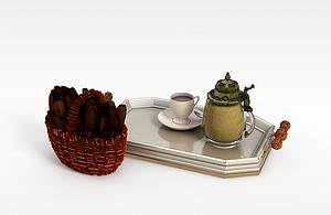 3d咖啡模型