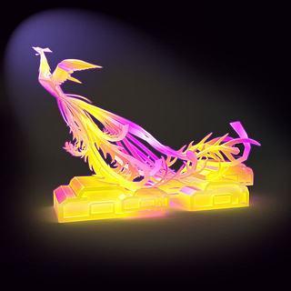 凤凰花灯3d模型