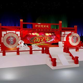 元宵节道具3d模型