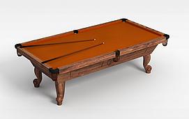 简约台球桌3d模型